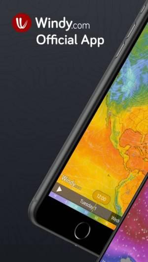 iPhone、iPadアプリ「Windy.com」のスクリーンショット 1枚目