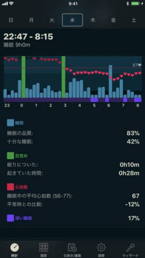iPhone、iPadアプリ「AutoSleep Watchを使って睡眠を自動で追跡します」のスクリーンショット 3枚目