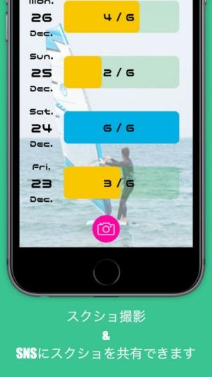 iPhone、iPadアプリ「日課メーター For 三日坊主」のスクリーンショット 4枚目