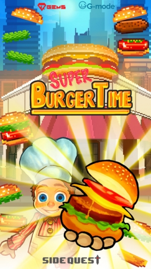 iPhone、iPadアプリ「Super Burger Time - GMode Official license」のスクリーンショット 1枚目