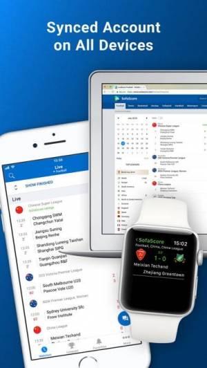 iPhone、iPadアプリ「SofaScore ライブスコア」のスクリーンショット 1枚目