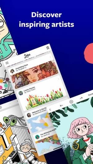 iPhone、iPadアプリ「Lake: Coloring Books」のスクリーンショット 4枚目