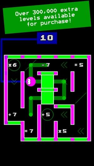 iPhone、iPadアプリ「Numplussed - Number Puzzle Maze」のスクリーンショット 4枚目