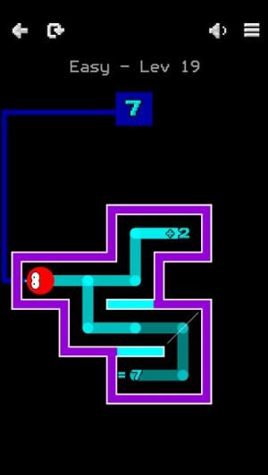 iPhone、iPadアプリ「Numplussed - Number Puzzle Maze」のスクリーンショット 5枚目
