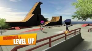 iPhone、iPadアプリ「Stickman Skate Battle」のスクリーンショット 5枚目
