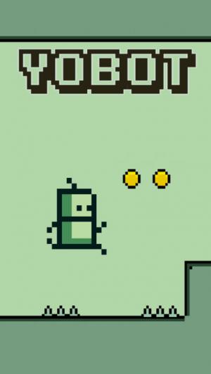 iPhone、iPadアプリ「Yobot Run - Pixel Games」のスクリーンショット 1枚目