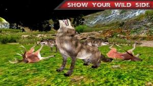 iPhone、iPadアプリ「怒っている野生の狼のジャングル攻撃」のスクリーンショット 4枚目