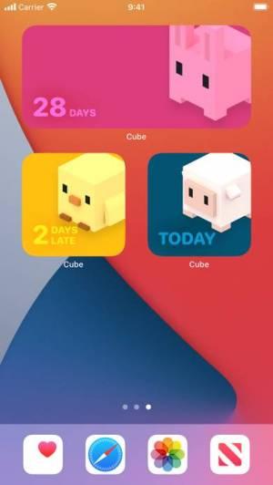 iPhone、iPadアプリ「Cube 生理日予測」のスクリーンショット 3枚目