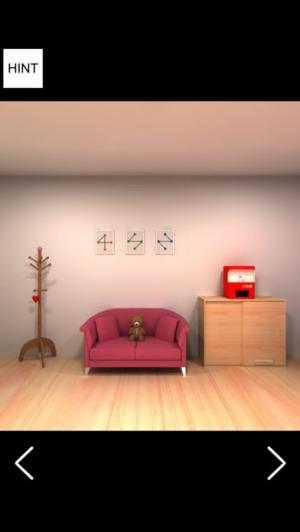 iPhone、iPadアプリ「脱出ゲーム-White Day 彼女の部屋から脱出 新作脱出ゲーム」のスクリーンショット 2枚目