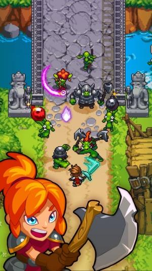 iPhone、iPadアプリ「Dash Quest Heroes」のスクリーンショット 1枚目