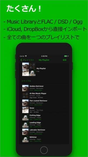 iPhone、iPadアプリ「scylla - ハイレゾ音楽プレイヤー」のスクリーンショット 3枚目