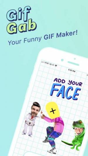 iPhone、iPadアプリ「GifGab」のスクリーンショット 1枚目