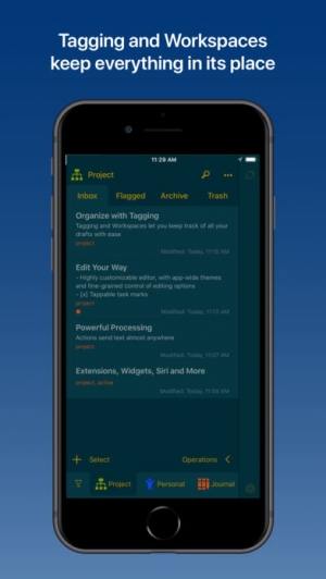 iPhone、iPadアプリ「Drafts 5: Capture ‣‣ Act」のスクリーンショット 4枚目