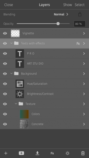 iPhone、iPadアプリ「Artstudio Pro」のスクリーンショット 5枚目