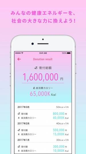 iPhone、iPadアプリ「CharityDiet- チャリティ・ダイエット」のスクリーンショット 4枚目