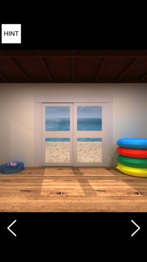 iPhone、iPadアプリ「脱出ゲーム 海の家から脱出 謎解き脱出ゲーム」のスクリーンショット 1枚目