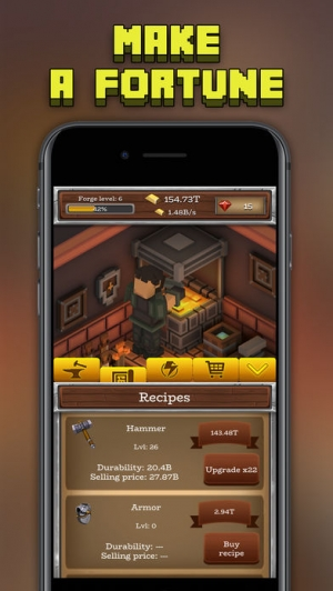 iPhone、iPadアプリ「ForgeCraft - Idle Tycoon」のスクリーンショット 2枚目