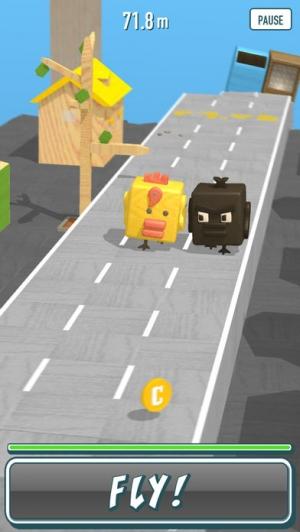 iPhone、iPadアプリ「Chiki Chiki Chicken Race」のスクリーンショット 2枚目