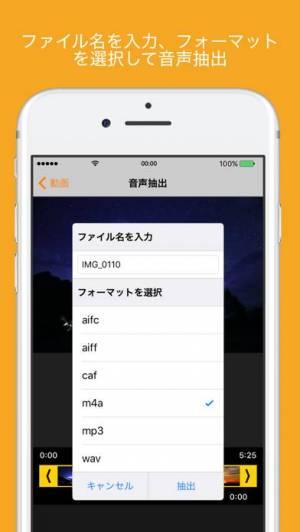 iPhone、iPadアプリ「音声抽出 - 動画TOオーディオ 動画から音声抽出」のスクリーンショット 3枚目