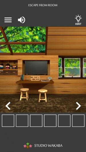 iPhone、iPadアプリ「脱出ゲーム ~木漏れ日落ちる山小屋からの脱出~」のスクリーンショット 2枚目