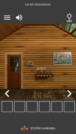 iPhone、iPadアプリ「脱出ゲーム ~木漏れ日落ちる山小屋からの脱出~」のスクリーンショット 3枚目