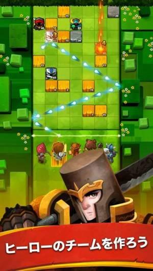iPhone、iPadアプリ「Battle Bouncers - ヒーローと魔法使いたち」のスクリーンショット 1枚目