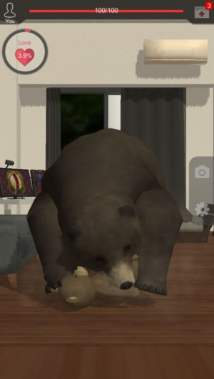 iPhone、iPadアプリ「くまといっしょ - 恐怖のクマ育成ゲーム」のスクリーンショット 3枚目