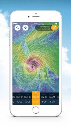 iPhone、iPadアプリ「Ventusky: 天気予報」のスクリーンショット 1枚目