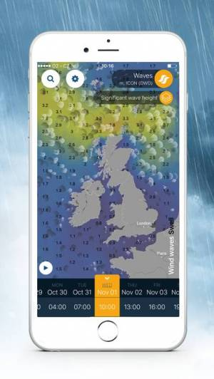 iPhone、iPadアプリ「Ventusky: 天気予報」のスクリーンショット 5枚目
