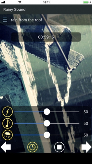 iPhone、iPadアプリ「雨音 ~快適な睡眠のために~」のスクリーンショット 3枚目