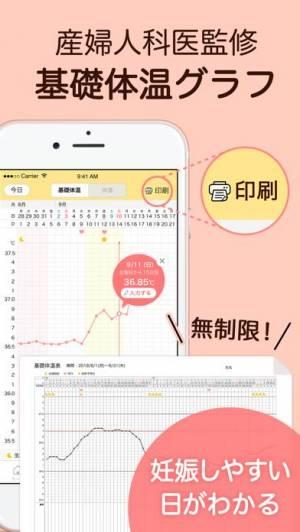 iPhone、iPadアプリ「ミチル-生理/基礎体温の生理管理アプリ(michiru)」のスクリーンショット 3枚目
