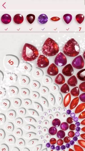 iPhone、iPadアプリ「Dazzly - ダイヤモンドアート。 番号による色」のスクリーンショット 1枚目