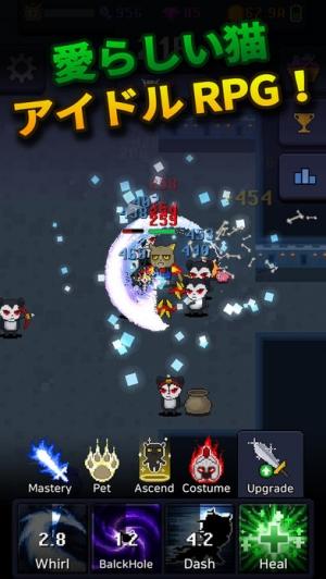 iPhone、iPadアプリ「Cat Tower - Idle RPG」のスクリーンショット 3枚目