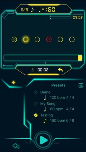 iPhone、iPadアプリ「tempohero Metronome メトロノーム」のスクリーンショット 3枚目