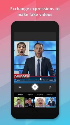 iPhone、iPadアプリ「Xpression - バーチャル乗っ取りフェイス」のスクリーンショット 1枚目