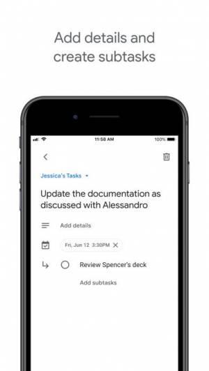 iPhone、iPadアプリ「Google ToDo」のスクリーンショット 2枚目