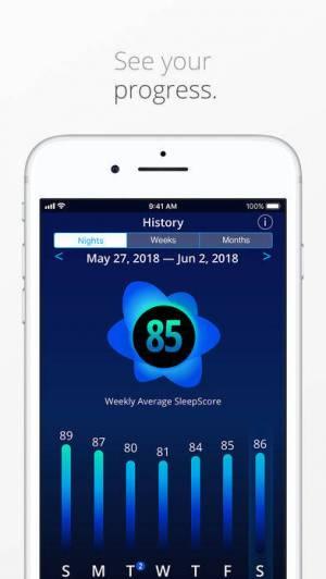 iPhone、iPadアプリ「SleepScore™」のスクリーンショット 4枚目