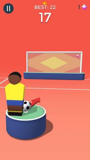 iPhone、iPadアプリ「ポップショット! サッカー」のスクリーンショット 2枚目
