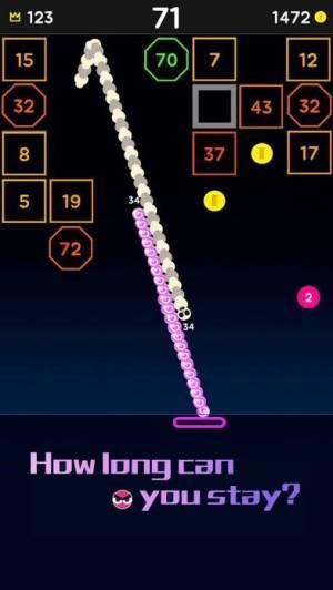iPhone、iPadアプリ「Snake Bricks-Bounce Balls」のスクリーンショット 5枚目