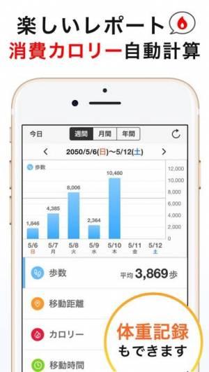 iPhone、iPadアプリ「シンプル歩数計 - おすすめ歩数計アプリ1万歩(ほすうけい)」のスクリーンショット 4枚目