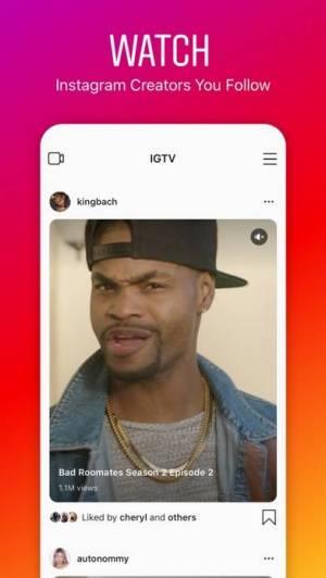 iPhone、iPadアプリ「IGTV: Instagram動画」のスクリーンショット 1枚目