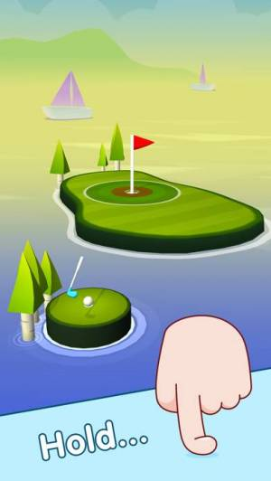 iPhone、iPadアプリ「ポップショット!ゴルフ」のスクリーンショット 1枚目