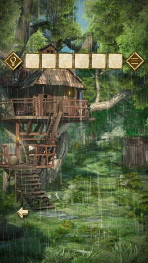 iPhone、iPadアプリ「脱出ゲーム 少女と雨の森」のスクリーンショット 2枚目
