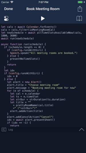 iPhone、iPadアプリ「Scriptable」のスクリーンショット 2枚目