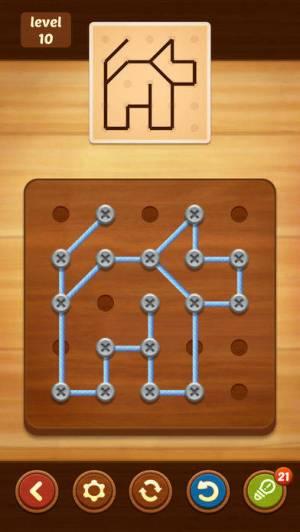 iPhone、iPadアプリ「Line Puzzle: String Art」のスクリーンショット 3枚目