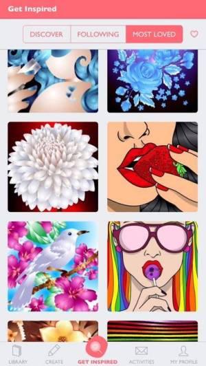 iPhone、iPadアプリ「数字で塗り絵: 大人のための塗り絵」のスクリーンショット 2枚目