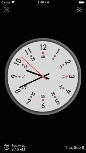 iPhone、iPadアプリ「アナログ時計 - 時計ウィジェット,目覚まし時計」のスクリーンショット 2枚目