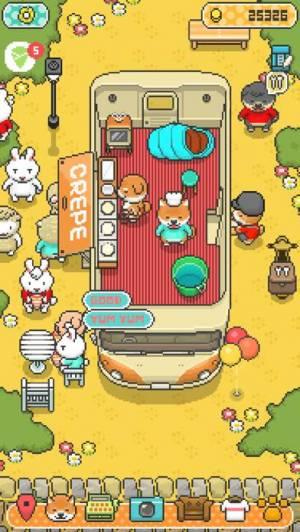 iPhone、iPadアプリ「柴犬のクレープ屋さん - かわいい犬たちと一緒に料理しよう!」のスクリーンショット 1枚目