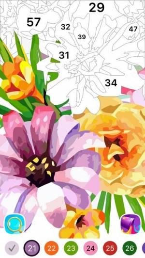 iPhone、iPadアプリ「塗り絵 Oil Painting」のスクリーンショット 3枚目