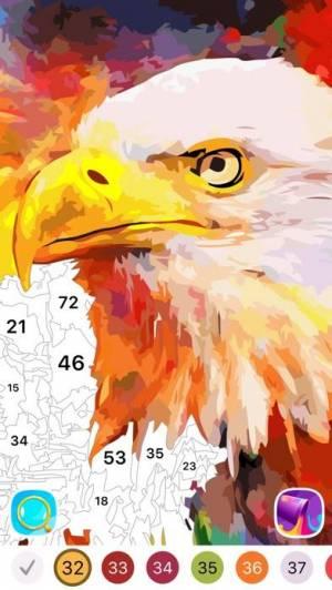 iPhone、iPadアプリ「大人の塗り絵 Oil Painting」のスクリーンショット 5枚目